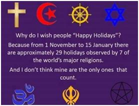 """How do I wish people """"Happy Holidays""""?"""