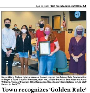 """Fountain Hills is a """"Golden Rule"""" Town!!"""