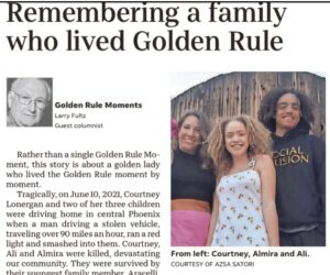 """""""Remembering a family who lived Golden Rule"""" published"""